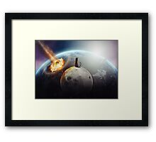 Cat Victory Framed Print