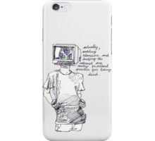 television killed iPhone Case/Skin