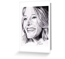 Jodie Foster portrait Greeting Card