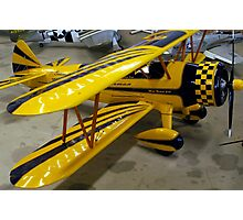 Yellow Bi-Plane Model. Photographic Print