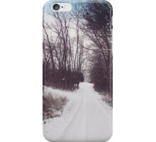 Snowy Evening Drive iPhone Case/Skin
