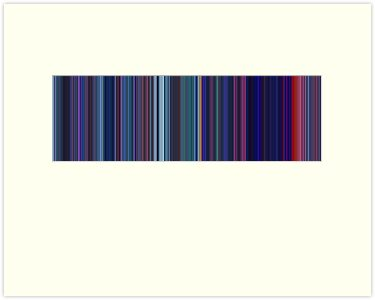 Moviebarcode: Pocahontas (1995) [Simplified Colors] by moviebarcode