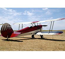 Red and white Bi-plane. Photographic Print