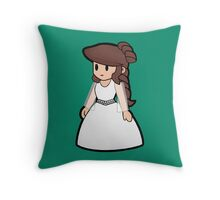 Paper Geek Princesses- Princess Leia  Throw Pillow