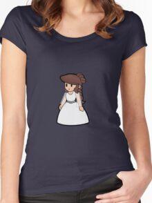 Paper Geek Princesses- Princess Leia  Women's Fitted Scoop T-Shirt