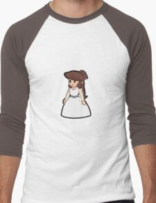 Paper Geek Princesses- Princess Leia  Men's Baseball ¾ T-Shirt