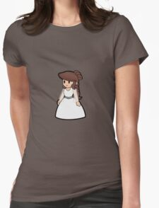 Paper Geek Princesses- Princess Leia  Womens Fitted T-Shirt