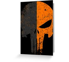 Punisher Deathstroke Greeting Card