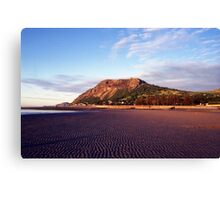 Sunset beach at Llanfairfechan. Canvas Print