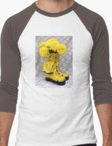 Yellow Flowers. Men's Baseball ¾ T-Shirt
