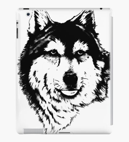 Timber wolf (Canis lupus lycaon) Sub-species of (Canis lupus) iPad Case/Skin