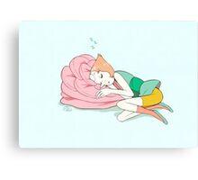 Perla Sleeping  Canvas Print