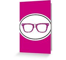 Glitter Geek Greeting Card