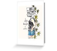 lead role Greeting Card
