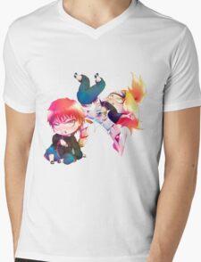 Chibi Sasori and Deidara Mens V-Neck T-Shirt