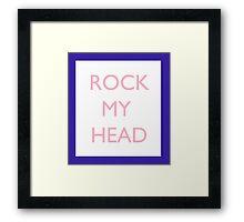 Seventeen Rock My Head Blue Framed Print