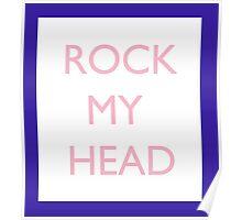 Seventeen Rock My Head Blue Poster