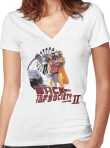 Back to the Fscoiety Women's Fitted V-Neck T-Shirt