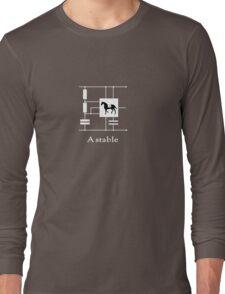 'A stable'  - Geek Slogan Tee Long Sleeve T-Shirt