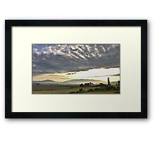 Sunrise on the Flats Framed Print