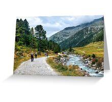 Trekking in Tirol II Greeting Card