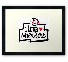 I Love Sneakers Carmines Framed Print