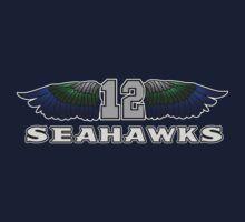 12 Man Fan Art Seahawks Wings (SSH-000003) by EngDesigns
