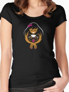 Pug Lady Women's Fitted Scoop T-Shirt