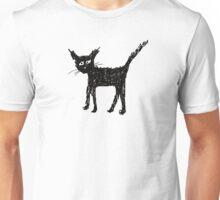 Scruffy black cat Unisex T-Shirt