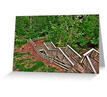 Stairway to a Mountain Forest Greeting Card