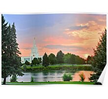 Idaho Falls Temple Sunrise Reflection 20x30 Poster