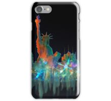 Liberty And New York Skyline iPhone Case/Skin