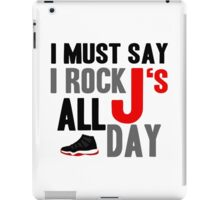 Rock JS All Day Jordan Breds iPad Case/Skin