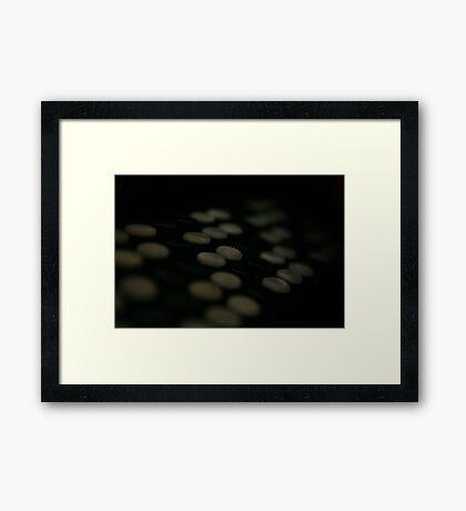 Treble Buttons Framed Print
