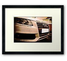 Audi A4 - Vorsprung Durch Technik Framed Print