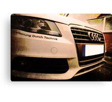 Audi A4 - Vorsprung Durch Technik Canvas Print