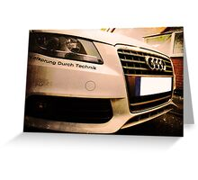 Audi A4 - Vorsprung Durch Technik Greeting Card