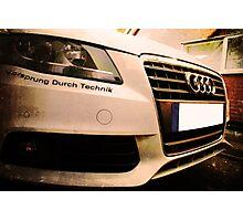 Audi A4 - Vorsprung Durch Technik Photographic Print