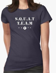 WAFA Squat Team in Blue/White Womens Fitted T-Shirt