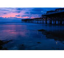 Crystal Pier after Sunset Photographic Print