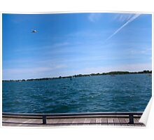 Flying over Lake Ontario Poster