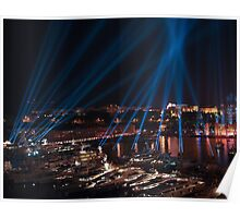 Lightshow over Monaco Poster