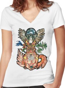 Personal Nature Women's Fitted V-Neck T-Shirt