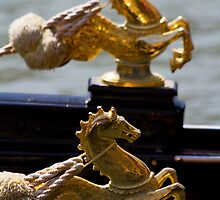Golden Sea Horses by Alf Myers