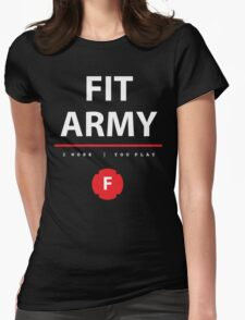 Fit Army Tank in Black/White/Red Womens Fitted T-Shirt