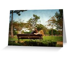 Lovers' Park Greeting Card
