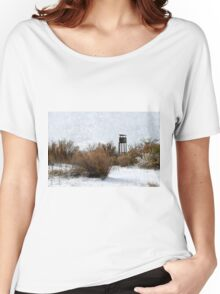 Vintage Hunting House in Winter Women's Relaxed Fit T-Shirt