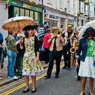Jazzz Band Lady with Brolly by DonDavisUK