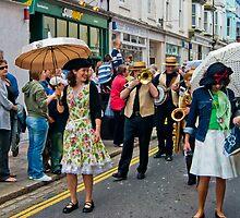 Jazzz Band Lady with Brolly by DonDavisUK