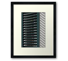 Window shutters, Den Haag Framed Print